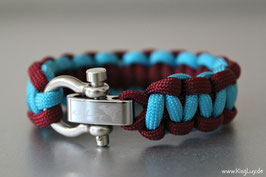 "Paracord Survival Armband, Charming ""Single"""