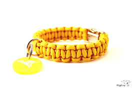 "Paracord Survival Halsband, Yellow ""Single"""