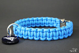"Paracord Survival Halsband, Colonial Blue ""Single"""
