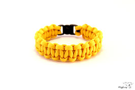 "Paracord Survival Armband, Yellow ""Single"""