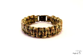 "Paracord Survival Armband, Multi Camo ""Single"""