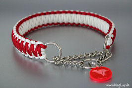 "Paracord Survival Halsband, X-Mas ""Double"" Zugstoppkette"