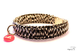 "Paracord Survival Halsband, Panda ""Triple"""