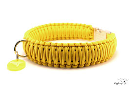 "Paracord Survival Halsband, Yellow ""Triple"""