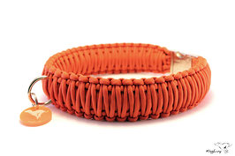 "Paracord Survival Halsband, Orange ""Triple"""