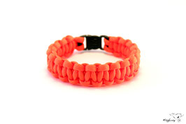 "Paracord Survival Armband, Neon Orange ""Single"""