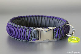 "Paracord Survival Halsband, Purpur ""Triple"""