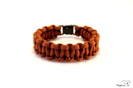 "Paracord Survival Armband, Brown ""Single"""