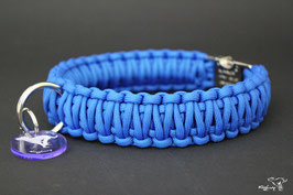 "Paracord Survival Halsband, Royal Blue ""Double"""