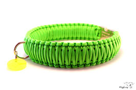"Paracord Survival Halsband, Neon Green ""Triple"""