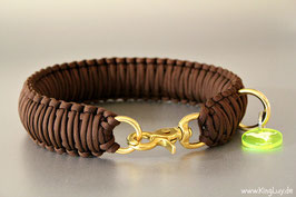 "Paracord Survival Halsband, Walnut Deluxe""Triple"""