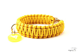 "Paracord Survival Halsband, Yellow ""Double"""