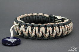 "Paracord Survival Halsband, Desert Ninja ""Double"""