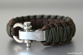 "Paracord Survival Armband, Navy seal ""Double Light"""