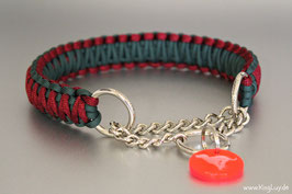 "Paracord Survival Halsband, Buffalo ""Double"" Zugstoppkette"