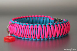 "Paracord Survival Halsband, Crazy Pink ""Triple"""