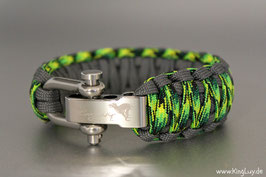 "Paracord Survival Armband, Gecko Groove ""Double Light"""