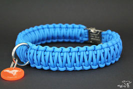 "Paracord Survival Halsband, Colonial Blue ""Double"""