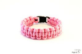 "Paracord Survival Armband, Pink ""Single"""