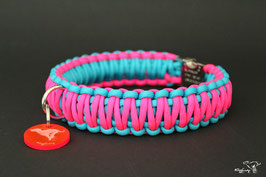 "Paracord Survival Halsband, Crazy Pink ""Double"""