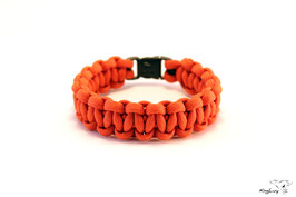 "Paracord Survival Armband, Orange ""Single"""