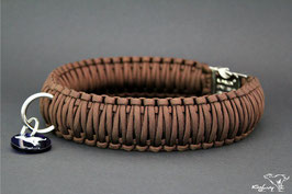 "Paracord Survival Halsband, Walnut ""Triple"""