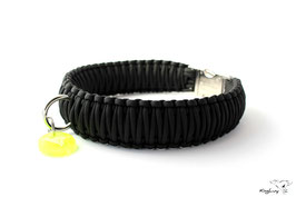 "Paracord Survival Halsband, Black ""Triple"""