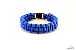 "Paracord Survival Armband, Royal Blue ""Single"""