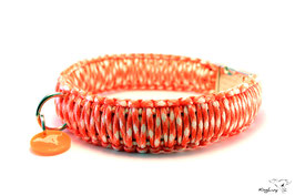 "Paracord Survival Halsband, Cream Sicle ""Triple"""