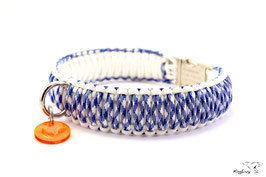 "Paracord Survival Halsband, Blue Cloud ""Triple"""
