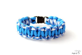 "Paracord Survival Armband, Colonial Blue/Royal Mountain ""Single"""