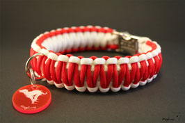 "Paracord Survival Halsband, X-Mas ""Double"""