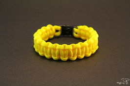 "Paracord Survival Armband, Neon Yellow ""Single"""