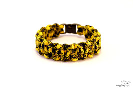 "Paracord Survival Armband, Bumble Bee ""Single"""