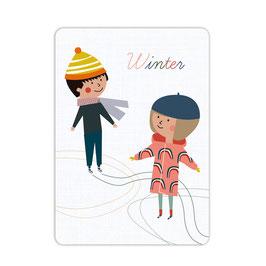 Winterspaß Postkarte