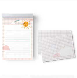 Briefpapier-Set Motiv Sonne