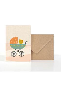 Baby Apfel | Klappkarte: DIN A6 + Umschlag