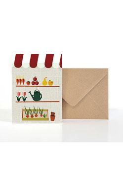 Für Garten-Freunde| Klappkarte: DIN A6 + Umschlag