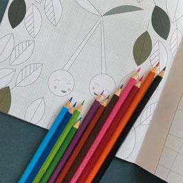 Künstlerbuntstifte,  12 Stück