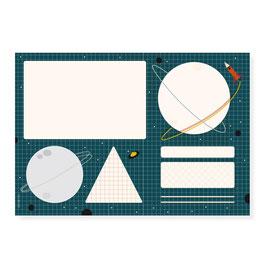 Schreibtischunterlage | Weltraum