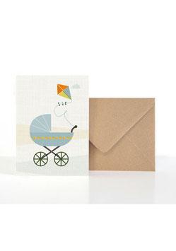 Baby Luft | Klappkarte: DIN A6 + Umschlag
