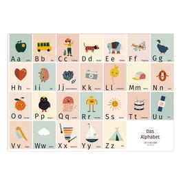 NEU Das Alphabet bunt | Druck: DIN A3