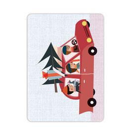 Weihnachtsmarkt-Express Postkarte