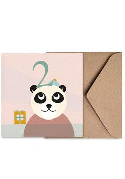 Nummer Zwei | Klappkarte: DIN A6 + Umschlag