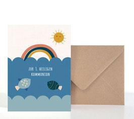 Kommunion1  | Klappkarte: DIN A6 + Umschlag