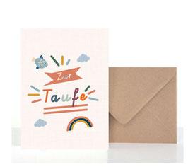 Taufe1  | Klappkarte: DIN A6 + Umschlag