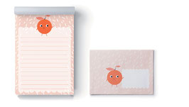 Briefpapier-Set Orange