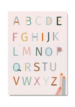 A B C Poster  | Druck: DIN A3
