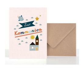 Kommunion2  | Klappkarte: DIN A6 + Umschlag