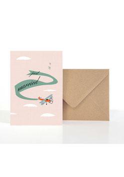 Just Amore/Hochzeitsgrüße | Klappkarte: DIN A6 + Umschlag